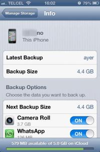 Fotos backup iPhone
