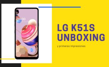 LG K51S unboxing
