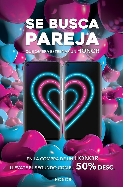 Promoción de smartphones Honor por San Valentín