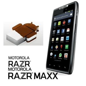 Llega Android 4 (ICS) a los Motorola Razr y Razr Maxx