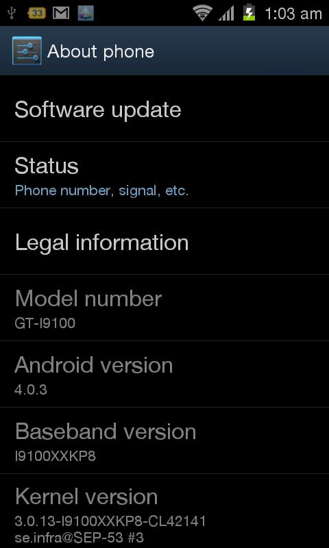 Android 4 (Ice Cream Sandwich) en un Galaxy S II