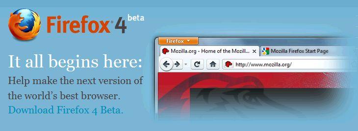 Liberan versión beta de Firefox 4