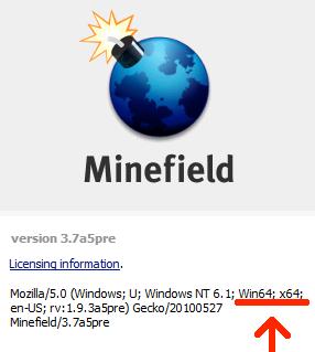Firefox en Windows 64 bits