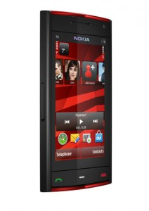 Nokia X6 black red