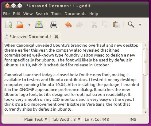 fuente Ubuntu